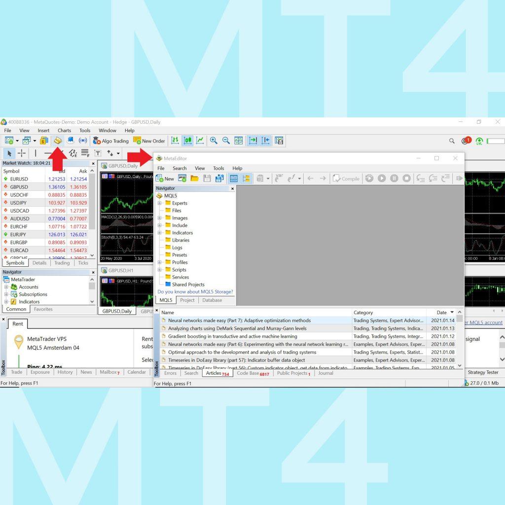 โปรแกรม MT4 Meta Trader 4 คู่มือการใช้งาน MT4 เทรด forex เมนู editor ea expert advisor Menu Goo Invest