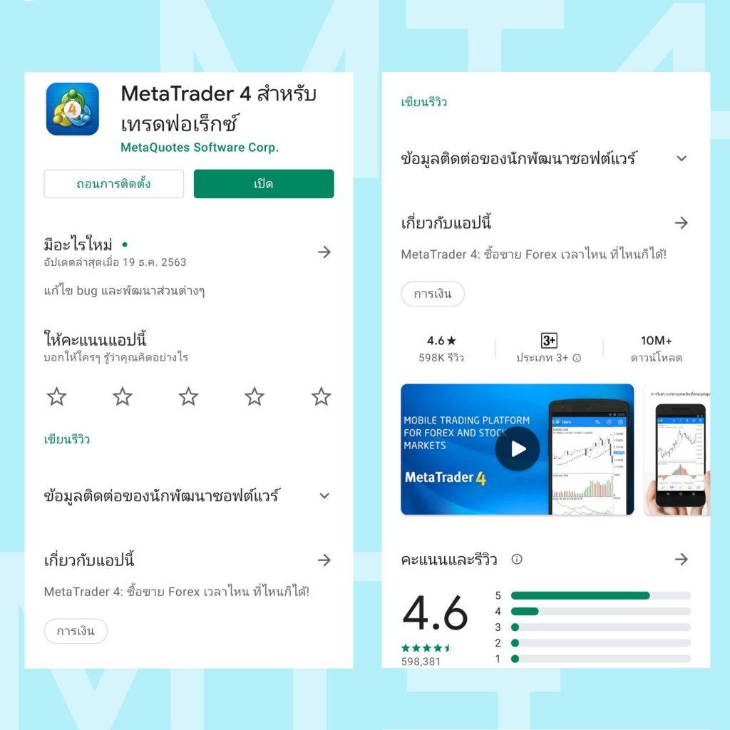 โปรแกรม MT4 Meta Trader การใช้งานบนมือถือ Android และ IOS Goo Invest