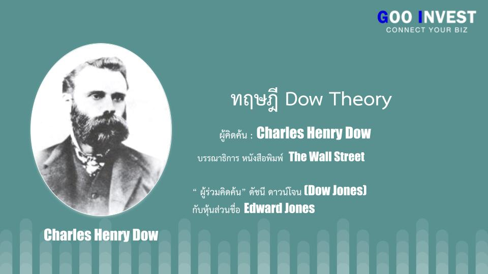 ทฤษฎี Dow Theory ต้นกำเนิด กราฟเทคนิค ที่มือใหม่ ห้ามพลาด Charles henry dow Goo invest Trade